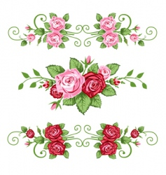 retro roses vector image vector image