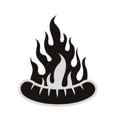 Sausage bbq icon vector