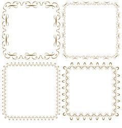 set of beautiful square frames vector image vector image