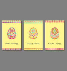 set of happy easter background vector image
