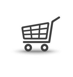 shopping cart trolley with soft shadow icon vector image vector image