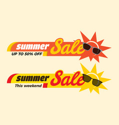 Summer sale label price tag banner badge template vector