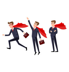 Super businessman men cartoon vector