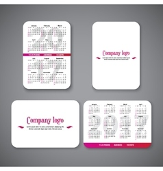 template clean design pocket calendar 2017 with vector image vector image