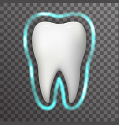 tooth protection glow field realistic 3d vector image