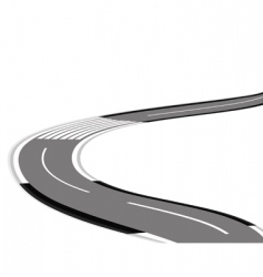 twisting road over white background vector image