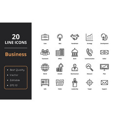 ultra high quality thin line icons vector image vector image