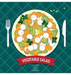 Vegetable salad vector image