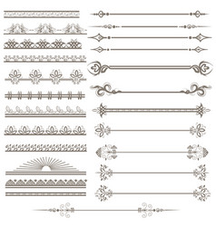 vintage ornaments and page decoration set vector image vector image