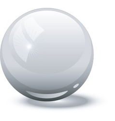 white glass ball vector image