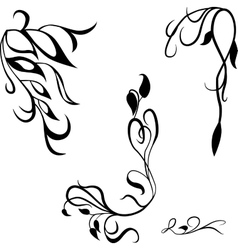 Set decorative design elements calligraphic vector