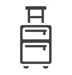 Luggage solid icon travel and tourism vector