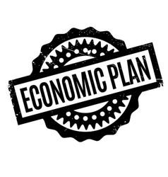 Economic plan rubber stamp vector