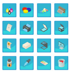 Printing icon blue app vector