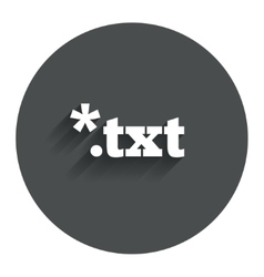 Text file icon download txt doc button vector