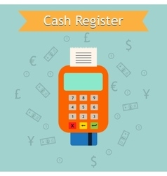 Mobile cash register machine  retail vector