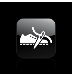 shoe production icon vector image