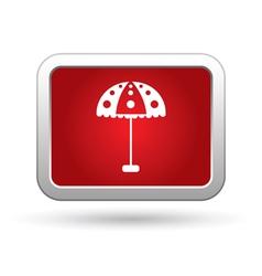 Beach umbrella icon vector image vector image