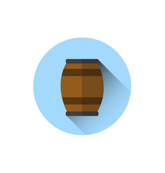 beer barrel icon oktoberfest festival holiday vector image vector image