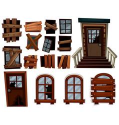 broken doors and windows vector image