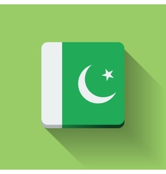 Button with flag of Pakistan vector image