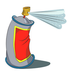 Cartoon image of aerosol vector