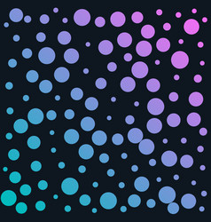 colorful circles background in different sizes vector image vector image