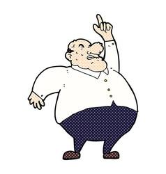 comic cartoon big fat boss vector image vector image