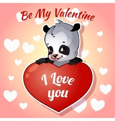 Cute panda for Valentines Day vector image vector image