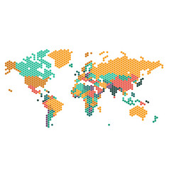 dotted world map with countries borders vector image vector image