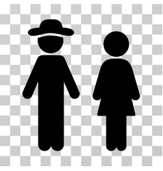 gentleman and lady icon vector image