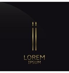 Golden I Letter vector image vector image