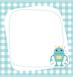 greeting card with cute robot greeting card with vector image