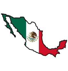 Map in colors of Mexico vector image vector image