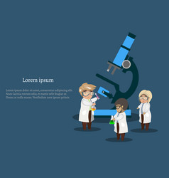 medicine and healthcare infographics banner vector image vector image