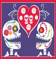 mexican skulls vector image