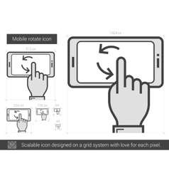 Mobile rotate line icon vector