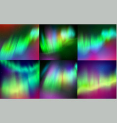 Northern lights backgrounds vector