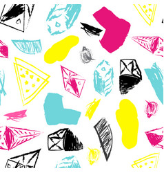 seamless abstract hand drawn shapes pattern on vector image