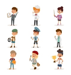 Set of cute cartoon professions kids Painter vector image vector image
