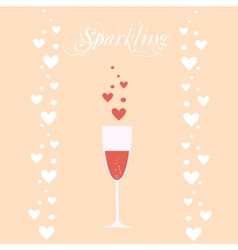 sparkling wineglasses with wine vector image vector image