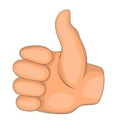 Thumb up icon cartoon style vector