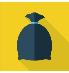 Trash bag in flat design vector