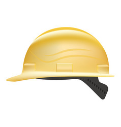 Yellow safety hard hat isolated on a white vector