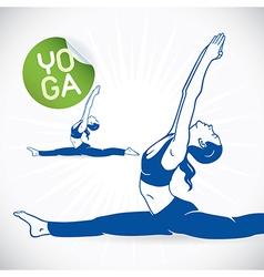 Yoga fitness model vector