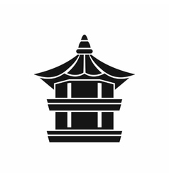 Traditional korean pagoda icon simple style vector