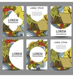 Abstract brochures recreation tourism and vector