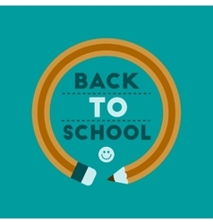 Flat icon on background back to school pencil vector