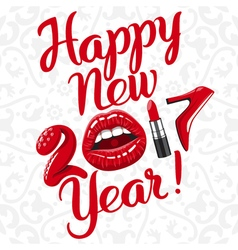 Happy new 2017 year 01 vector image