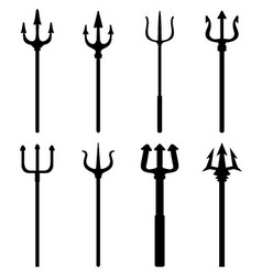 silhouettes of trident vector image
